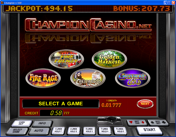 официальный сайт казино чемпион играть на деньги